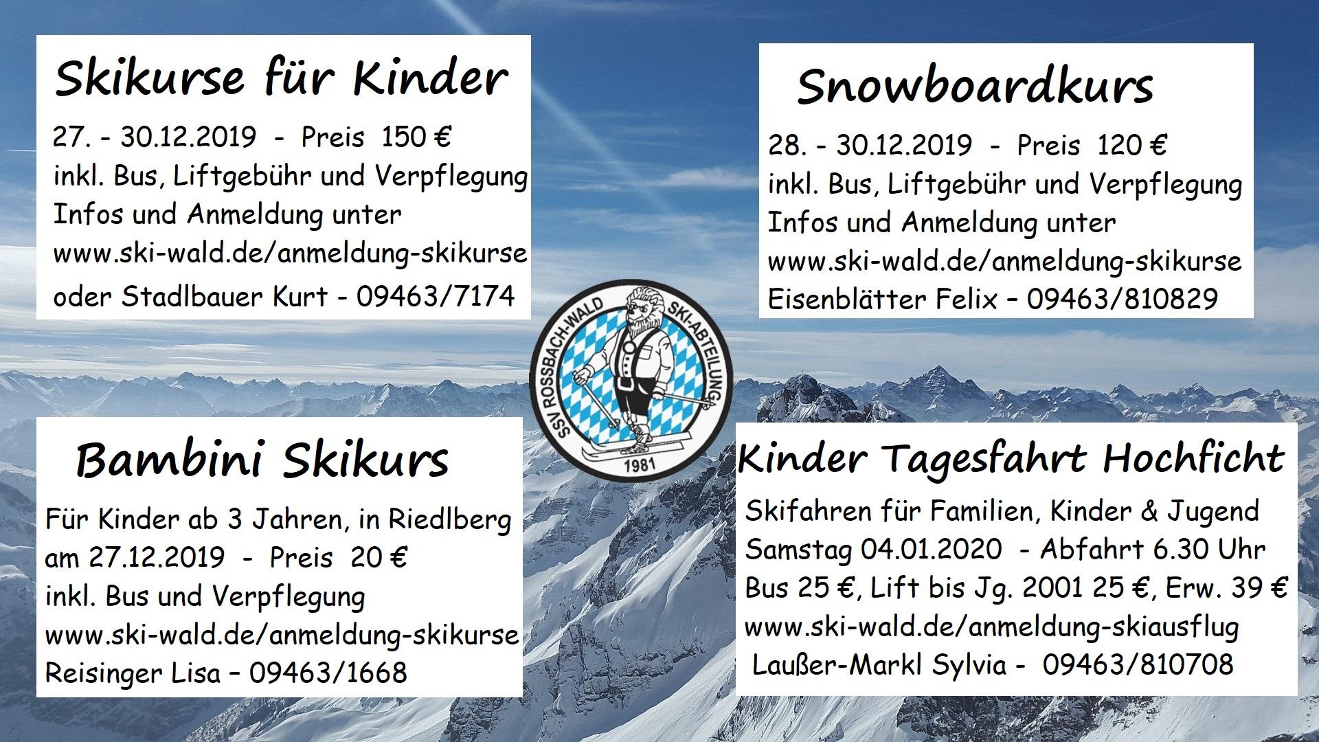 Kinder Skikurse 2019